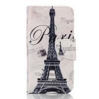 Rich PU kožené puzdro pre mobil Samsung Galaxy A3 (2016) - Eiffelova veža