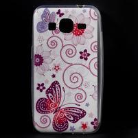 Ultratenký slim obal na Samsung Galaxy Core Prime - motýlek