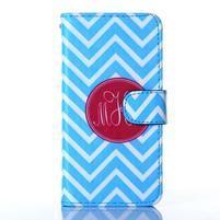 Standy peňaženkové puzdro pre Samsung Galaxy Core Prime - modrý vzor