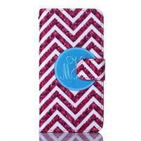 Standy peňaženkové puzdro pre Samsung Galaxy Core Prime - červený vzor