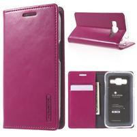 Moon PU kožené pouzdro na mobil Samsung Galaxy Core Prime - rose