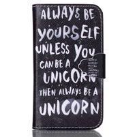 Emotive peňaženkové puzdro pre Samsung Galaxy Core Prime - unicorn