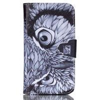 Emotive peňaženkové puzdro pre Samsung Galaxy Core Prime - sova
