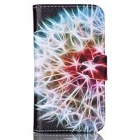 Emotive peněženkové pouzdro na Samsung Galaxy Core Prime - barevná pampeliška