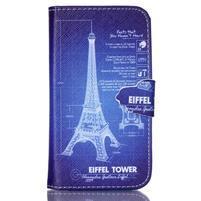 Emotive peňaženkové puzdro pre Samsung Galaxy Core Prime - Eiffelova veža