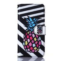 Standy peňaženkové puzdro pre Samsung Galaxy Core Prime - ananas