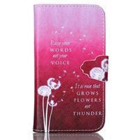 Emotive peňaženkové puzdro pre Samsung Galaxy Core Prime - púpavy