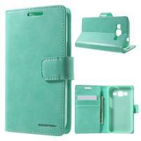 Moonleather PU kožené puzdro pre Samsung Galaxy Core Prime - azúrové
