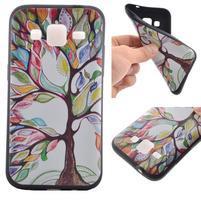 Hardy gélový obal pre mobil Samsung Galaxy Core Prime - malovaný strom