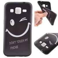 Hardy gélový obal pre mobil Samsung Galaxy Core Prime - nedotýkať sa