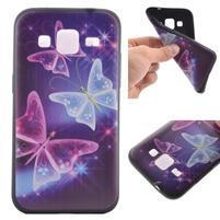Hardy gélový obal pre mobil Samsung Galaxy Core Prime - čarovné motýle
