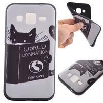 Hardy gélový obal pre mobil Samsung Galaxy Core Prime - mačička čte