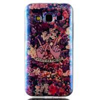 Bluray gelový obal s odlesky na Samsung Galaxy Core Prime - květiny