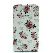 Flipové puzdro pre mobil Samsung Galaxy Core Prime - kvety