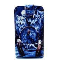 Flipové puzdro pre mobil Samsung Galaxy Core Prime - magický vlci