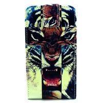Flipové puzdro pre mobil Samsung Galaxy Core Prime - tiger