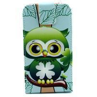 Flipové puzdro pre mobil Samsung Galaxy Core Prime - sovička