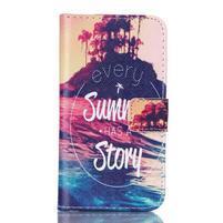 Knížkové puzdro pre Samsung Galaxy Core Prime - letná story