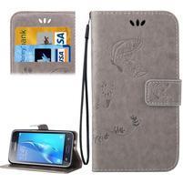 Magicfly PU kožené puzdro pre mobil Samsung Galaxy J1 (2016) - šedé