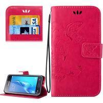 Magicfly PU kožené puzdro pre mobil Samsung Galaxy J1 (2016) - rose