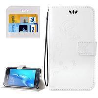 Magicfly PU kožené puzdro pre mobil Samsung Galaxy J1 (2016) - biele