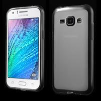 Matný gélový obal pre Samsung Galaxy J1 - biely