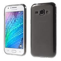 Matný gélový obal pre Samsung Galaxy J1 - šedý