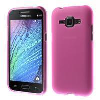 Rose matný kryt pre Samsung Galaxy J1