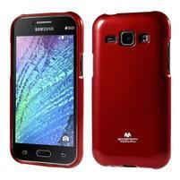Červený gélový obal pre Samsung Galaxy J1