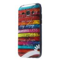 Gélový kryt na Samsung Galaxy J1 - farby dřeva