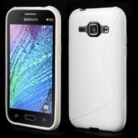 Biely gélový s-line obal Samsung Galaxy J1