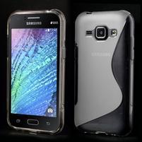 Transparentný gélový s-line obal Samsung Galaxy J1
