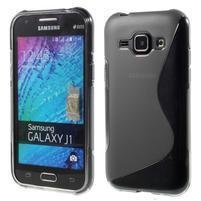 Šedý gélový s-line obal Samsung Galaxy J1