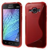 Červený gélový s-line obal Samsung Galaxy J1