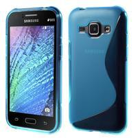 Modrý gélový s-line obal Samsung Galaxy J1