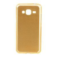 Diamond gélový obal pre mobil Samsung Galaxy J3 (2016) - zlatý