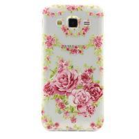 Ultratenký slim gélový obal pre Samsung Galaxy J5 - kvety