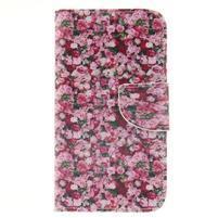 Standy peňaženkové puzdro pre Samsung Galaxy J5 - ruže