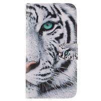 Standy peňaženkové puzdro pre Samsung Galaxy J5 - tiger