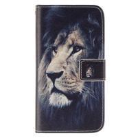 Standy peňaženkové puzdro pre Samsung Galaxy J5 - lev
