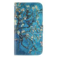 Standy peňaženkové puzdro pre Samsung Galaxy J5 - kvitnúci strom