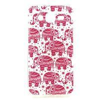 Imda gélový obal pre mobil Samsung Galaxy J5 - ružoví slony