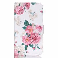 Pictu peňaženkové puzdro pre Samsung Galaxy J5 - kvety