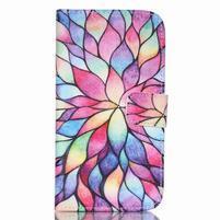 Pictu peňaženkové puzdro pre Samsung Galaxy J5 - farebné lístky