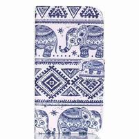 Pictu peňaženkové puzdro pre Samsung Galaxy J5 - slony