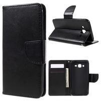 Peňaženkové puzdro pre mobil Samsung Galaxy J5 - čierne