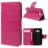 Peňaženkové puzdro pre mobil Samsung Galaxy J5 - rose
