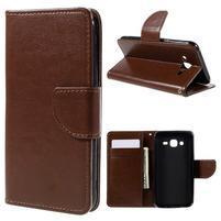 Peňaženkové puzdro pre mobil Samsung Galaxy J5 - hnedé