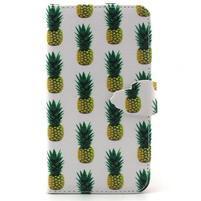 Knížkové puzdro pre mobil Samsung Galax J5 - ananasy