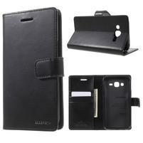 Mercury PU kožené puzdro pre mobil Samsung Galaxy J5 - čierne